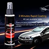 #8: Hjuns 100ML 9H Car Ceramic Coating Paint Sealant Protection Auto Anti-scratch Polished Crystal Glass Coating (Style A)