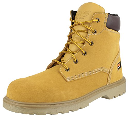 Timberland Pro UK 5Hero Sicherheitsstiefel Composite Fuß–Weizen
