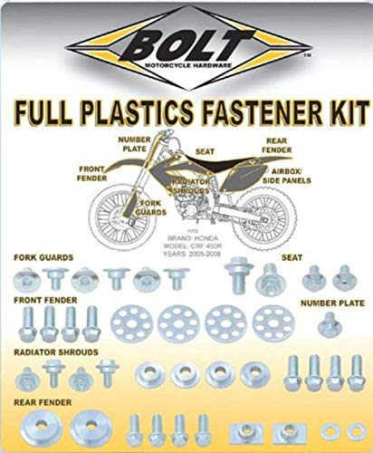 (Bolt MC Hardware Full Plastic Fastener Kit HON-0409024)