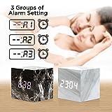 Oct17 Marble Pattern Alarm Clock, Fashion