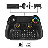 BEBONCOOL 2.4GHz Wireless Game Controller with Keyboard for Windows PC/Android TV Box; Support Android Phone/Table with Supplied OTG Cable