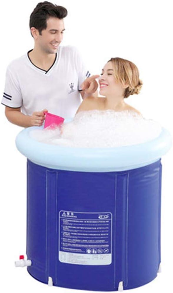 Bañera inflable Piscinas hinchables For Adultos Piscina Infantil For Niños Bañeras Plegables Hinchables Bañera Engrosada Capacidad Máxima 300L Wate (Color : Blue-a, Size : 65 * 65cm)