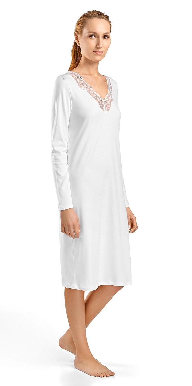 3a369e94ff Hanro Womens Valencia Long Sleeve Gown Valencia Long Sleeve Gown Nightgown   Amazon.co.uk  Clothing