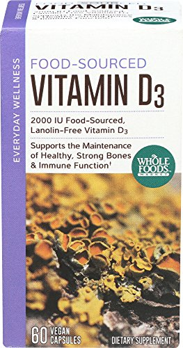 Whole Foods Market, Food-Sourced D3 2000 IU, 60 ct