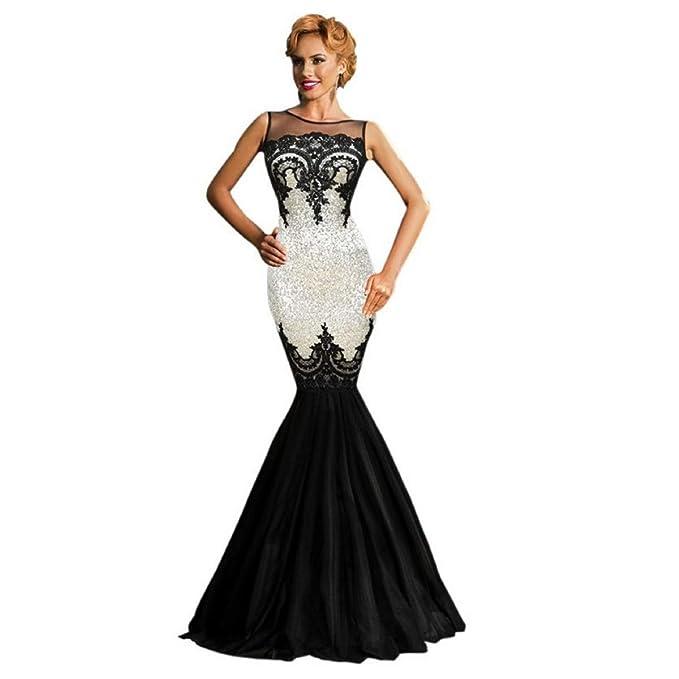 dcf444f688c2 Mela Proibita Vestito da Donna Sexy Abito Lungo da Cerimonia Festa Ballo  Party Sirena Elegante Vestitino Damigella Elegante Matrimonio