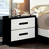 Furniture of America Cruela 2 Drawer Nightstand - Black/
