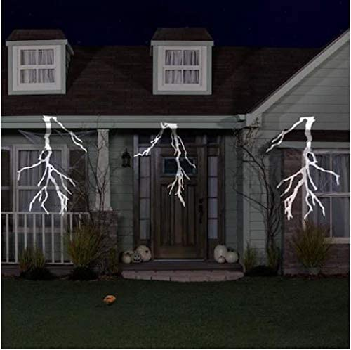 Gemmy Thunderbolt Multi-Function White Led Multi-Design Halloween Indoor Outdoor Projector