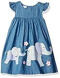 Mud Pie Baby Toddler Girls' Casual Playwear Sun Dress Bloomer, 3, Elephant, 3T