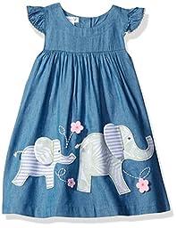 Mud Pie Baby Girls\' Casual Playwear Sun Dress, Elephant/Bloomer, 2 Toddler
