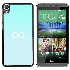 Be Good Phone Accessory // Dura Cáscara cubierta Protectora Caso Carcasa Funda de Protección para HTC Desire 820 // infinity mathematics blue minimalist
