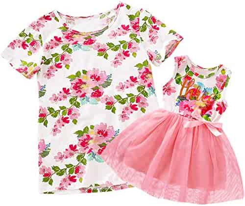 Baby Girls Floral Outfit Set Wild One 3Pcs Vest Skirt with Headband