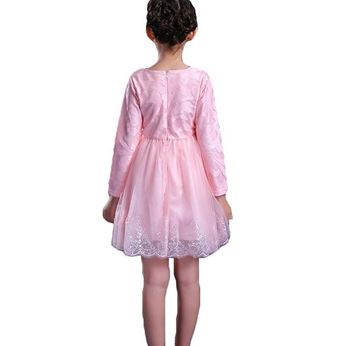 Vestidos para Bebé Niñas - Princesa Largos Vestido de Encaje ...