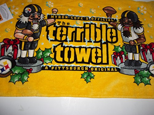 Pittsburgh Steelers New Christmas / Holiday Terrible Towel - RARE by Littlearth