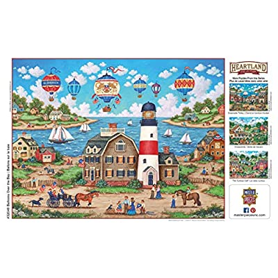 MasterPieces Heartland - Balloons Over The Bay 550-Piece Jigsaw Puzzle: Toys & Games