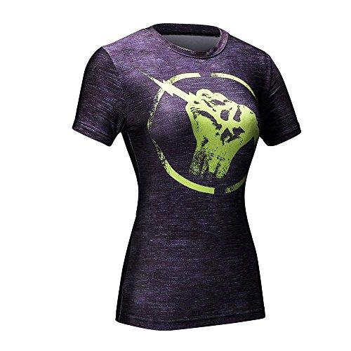 wct01femmes Mesdames pour femme de compression pour femme Peau d'extérieur à manches courtes pour le fitness Yoga Sexy Fashion pour femme