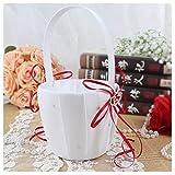 TOOGOO(R) Double Heart Wedding Flower Girl Basket