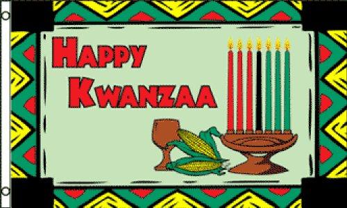 Happy Kwanzaa Flag 3x5ft Poly (Kwanzaa Traditions Of)