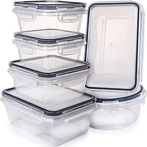 Airtight Food Storage Containers with Lids - Plastic Food Containers with Lids - Plastic Containers with Lids - Lunch Containers Kitchen Storage Containers with Lids BPA Free Food container Fullstar from Fullstar
