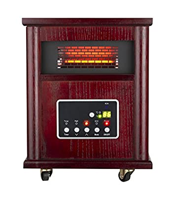 Trustech LED Display Infrared Heater Three Settings 12 Hours Timer with Remote Control
