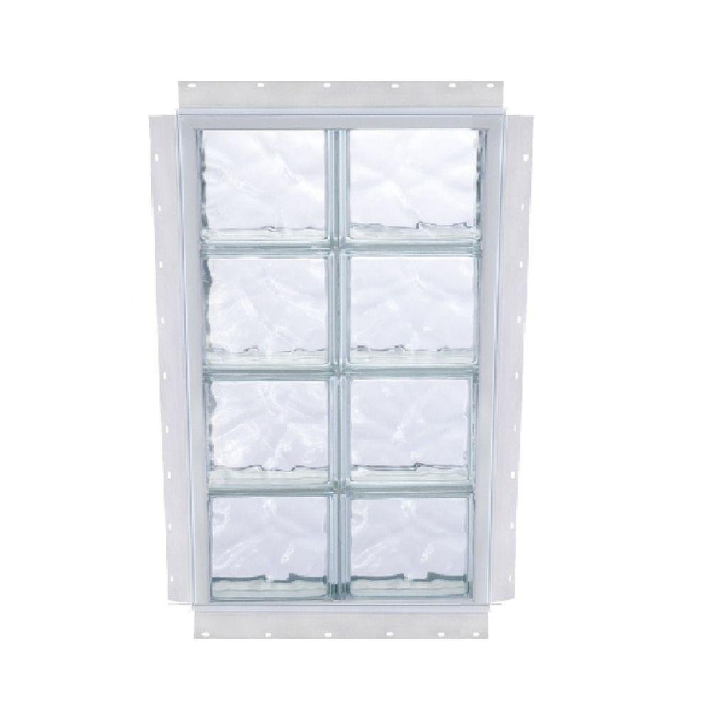 NAIL UP Wave Pattern Solid Glass Block Window