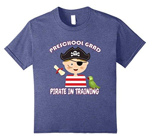 [unisex-child Pirate costume Preschool Graduate - Future Pirate Shirt 12 Heather Blue] (Cute Pirate Costumes Ideas For Women)