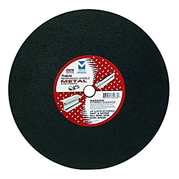Image of Mercer Industries 607040 Gas Saw Cut-Off Wheels for Ferrous Metals, 14' x 1/8'(5/32) x 20mm, 10 Pack Home Improvements