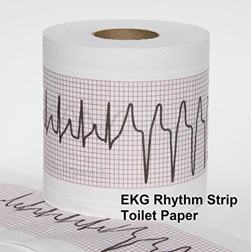 EKG Rhythm Strip BLS cardiology ICU nurse EMT gift code brown Toilet Paper