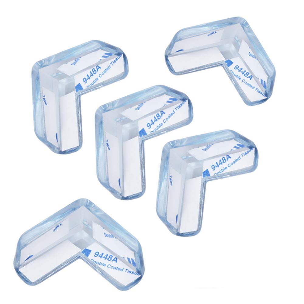5Pcs L-Shaped Corner Guards Baby Safety Sharp Table Furniture Corner Protectors with Extra Adhesive Tape for Backup Use