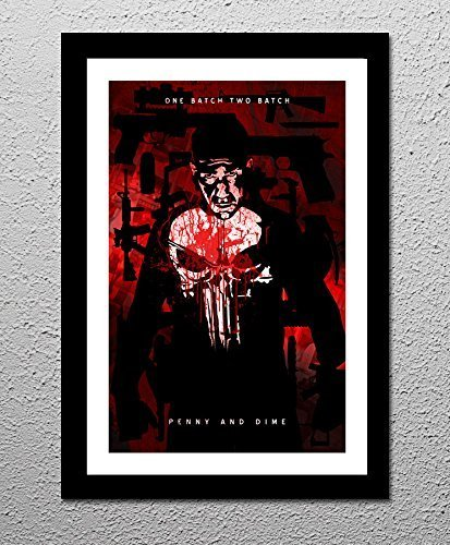 Punisher - Jon Bernthal - Original Minimalist Retro Art Poster Print