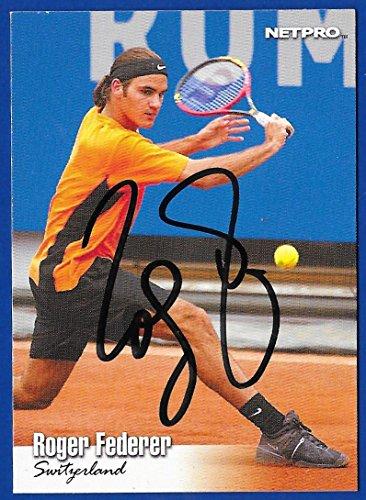 Roger Federer '03 NetPro Card #90 · Hand Signed w/ COA & Pro