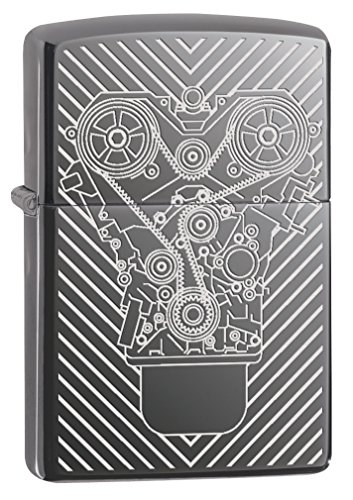 (Zippo Lighter: Engraved Motor - Black Ice 76851)