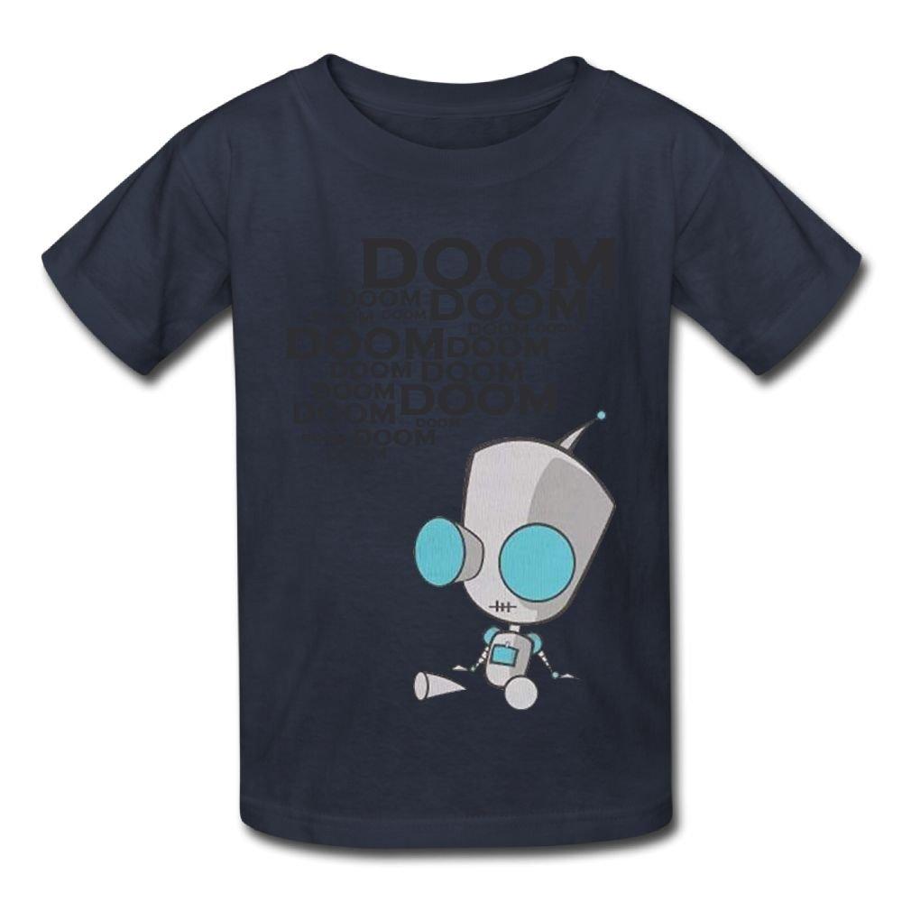 6-24 Month Baby T-Shirt Invader Zim Gir Doom Logo Fashion Classic Style Navy