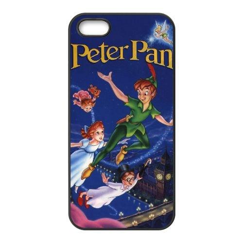 Peter Pan 016 coque iPhone 5 5S Housse téléphone Noir de couverture de cas coque EEEXLKNBC19133