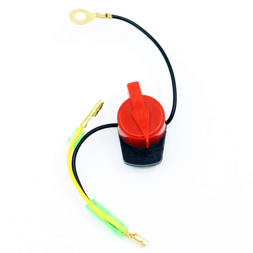 Yingshop On//Off Engine Stop Kill Switch Control Compatible for GX110 GX120 GX160 GX200 GX240 GX270 GX340 GX390 ED1000 EZ1400 EG1400 EG1000 EZ2500 EZ3500 EZ5000 WT30XK4 WT40XK3 CC4033 26A-BPH3710