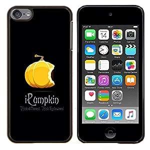 Queen Pattern - FOR Apple iPod Touch 6 6th Generation - pumpkin orange Halloween autumn fall black - Cubierta del caso de impacto con el patr???¡¯???€????€??