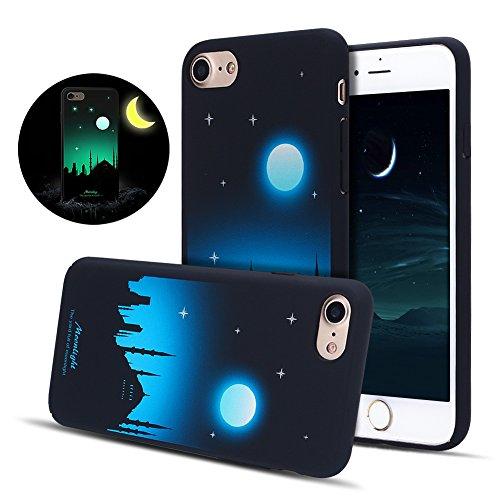 Funda iPhone 6 / 6S, iPhone 6S Luminoso Funda, SpiritSun Hard Carcasa Funda para iPhone 6 / 6S (4.7 pulgadas) Ultra Delgado y Ligero Duro PC Caja Diseño Fluorescente Funda Carcasa Cristal Gel Protecto Luz de la luna