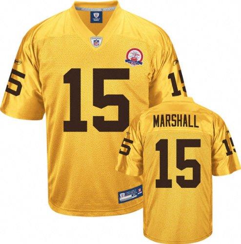 online store 3b5c1 dc12b Amazon.com: Brandon Marshall Jersey: Reebok Gold AFL 50th ...