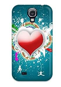 New Funky Heart Tpu Case Cover, Anti-scratch ZippyDoritEduard Phone Case For Galaxy S4