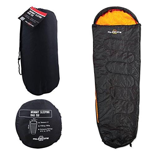Milestone-Mummy-Sleeping-Bag-Black