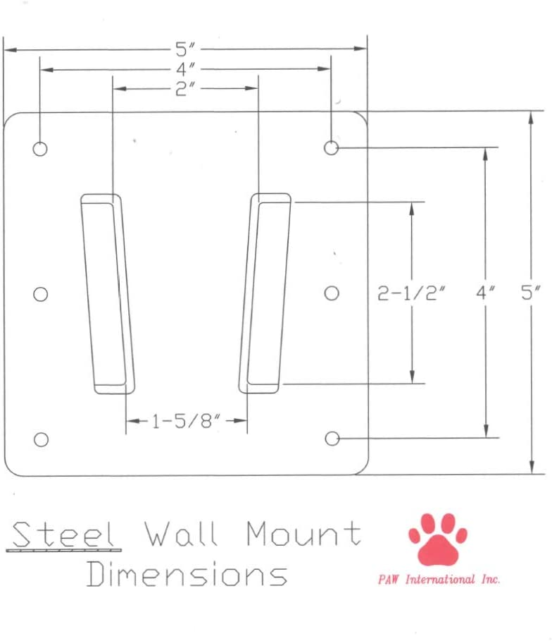 Steel Wall Mount for Campers and RVs- Not PAW International Polymer Mount –