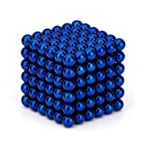 O-Toys Magnetic Balls Fidget Toys Magnet Sculpture Creative Learning Educational Toy Building Blocks Puzzle Toys Anxiety Stress Relief Toy Home Office Decoration (5mm, Dark Blue, Set of 216 Balls)