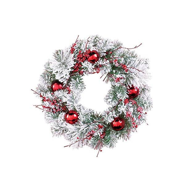 Collections Etc Winter Pine Christmas Wreath