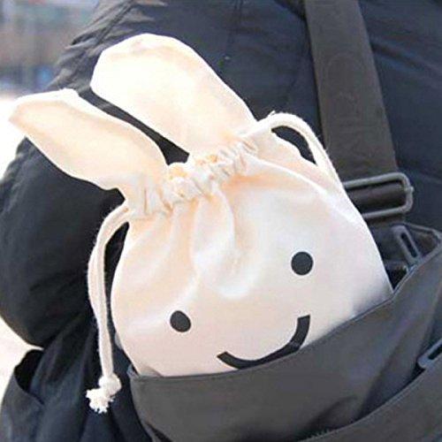 LUQUAN Ninja Bunny Cute Cloth Debris Bags Beam Port Storage Bag Finishing Kids School Bags Drawstring Bag Snack Bags