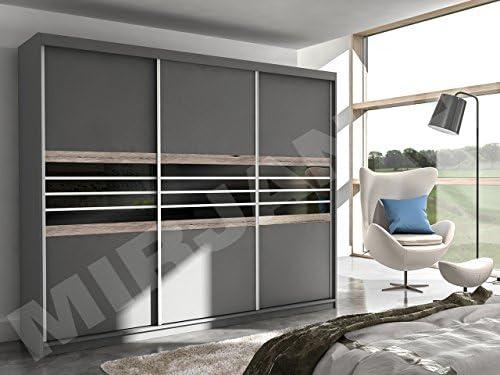 Mirjan24 Armario Moderno Turyn con Puertas correderas, Armario, Perchero, Dormitorio, Armario.: Amazon.es: Juguetes y juegos