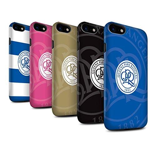 Offiziell Queens Park Rangers FC Hülle / Matte Harten Stoßfest Case für Apple iPhone 8 / Pack 11pcs Muster / QPR Fußball Crest Kollektion