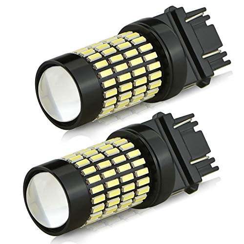 3157 Reverse Light Bulbs,AUXITO 1400 Lumens Super Bright Wedge 4014 102-SMD LED Chipsets 3056 3156 3057 4157 LED Bulbs with Projector for Backup Reverse Lights Tail Signal Lights,6000K Xenon White ()