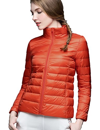 Ultralight Autumn CHICK Spring Down CHERRY Jacket Women's Ideal Orange amp; Packable for wEqdSvxg