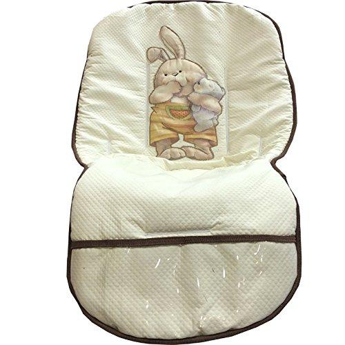 colchoneta bebe silla conejos beige: Amazon.es: Handmade