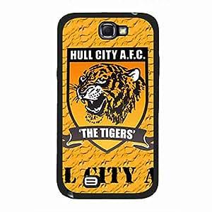 Blue Hull City Association Football Club Logo Phone Funda,Hull City Association Football Club Phone Funda,Samsung Galaxy Note 2 Funda,Hull City Association Football Club Cover Funda
