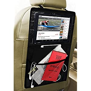 Zento Deals Black Ipad holder and Car Seat Item Organizer